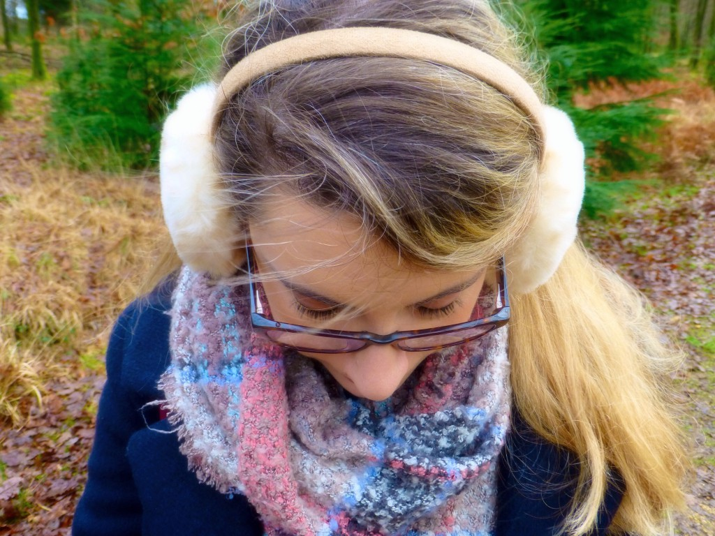 Cosy earmuffs on a freezing cold day