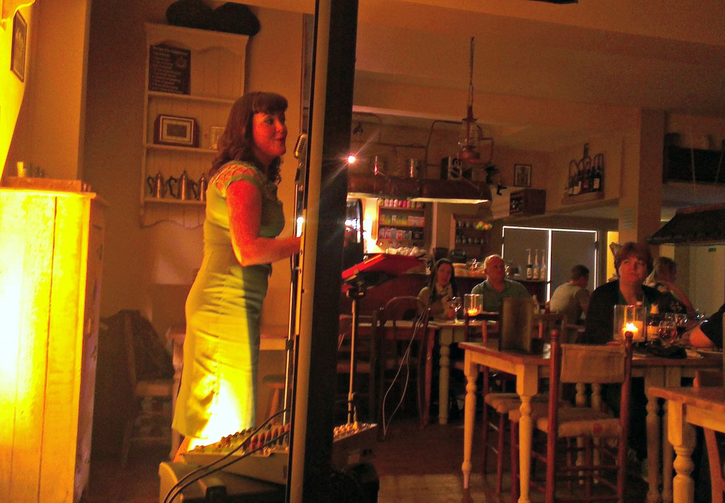 Amy Baker performing at Butters Cafe