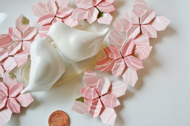Hydrangea-origami-flower-table-decoration