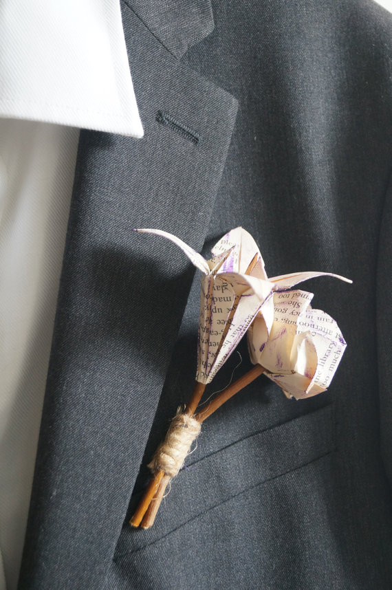 origami-groom-buttonhole