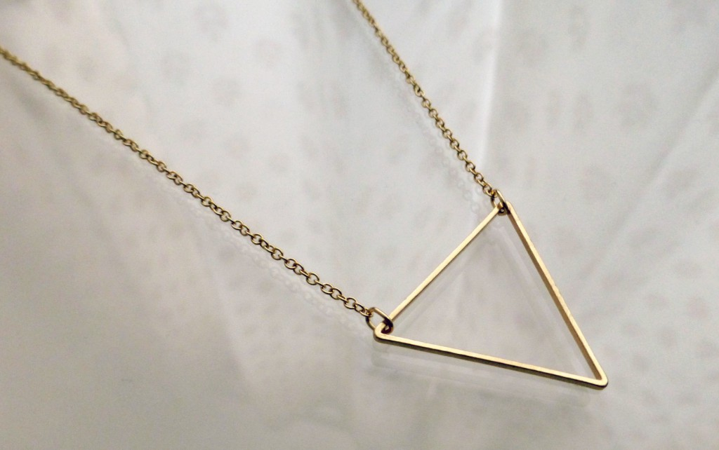 Primark triangle necklace