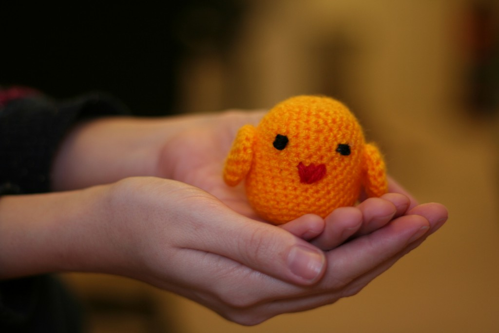 Easter crochet chick