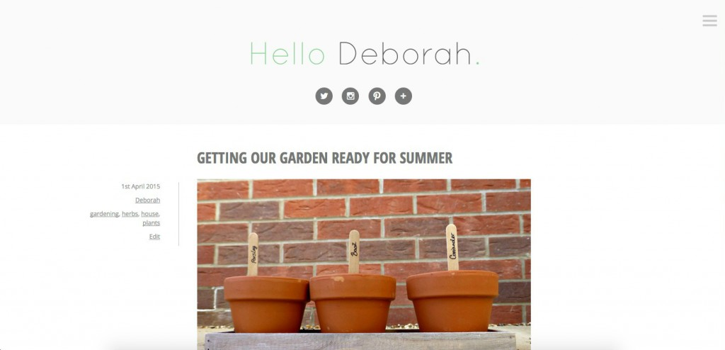 Hello Deborah original design