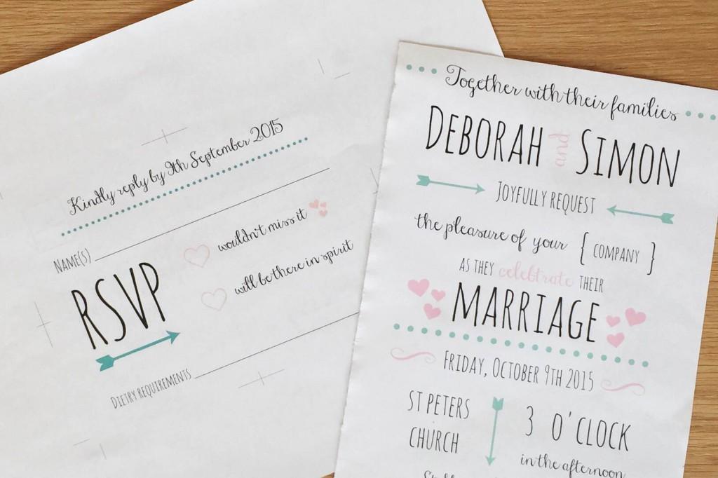 DIY Wedding invitations to print
