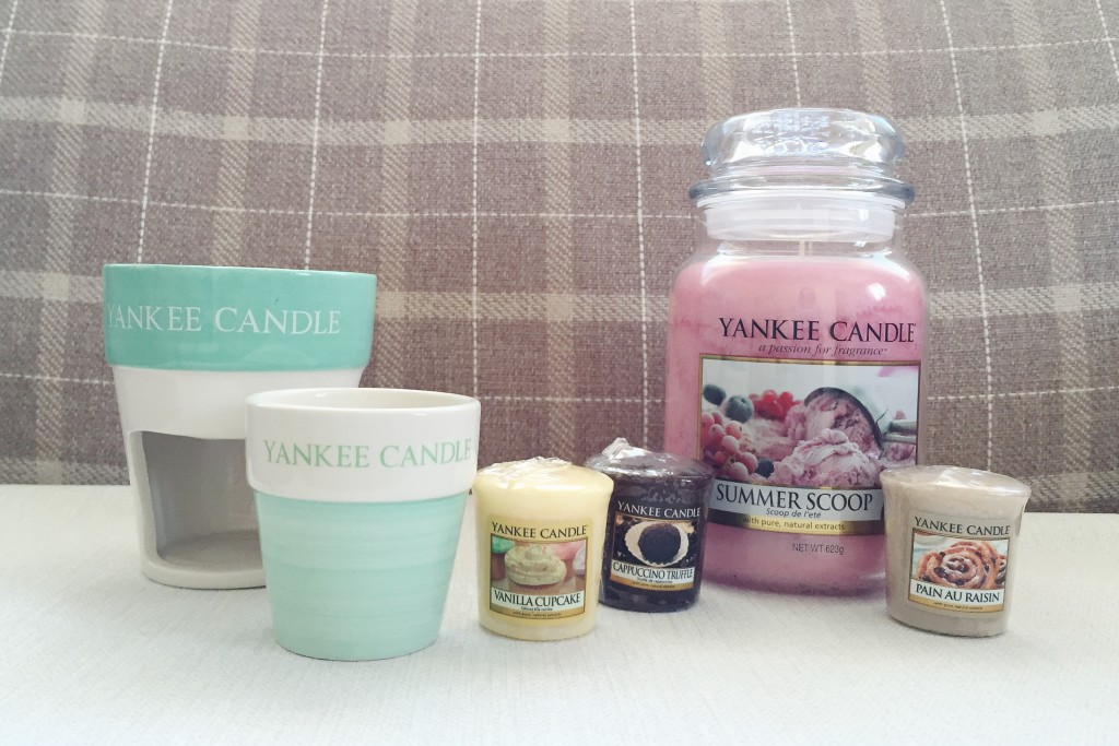 Yankee Candle candles, votive holder and wax burner