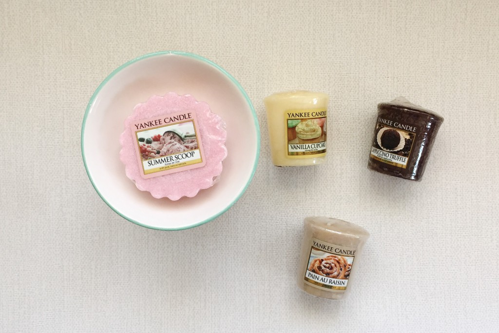 Yankee Candle wax tarts and votive candles