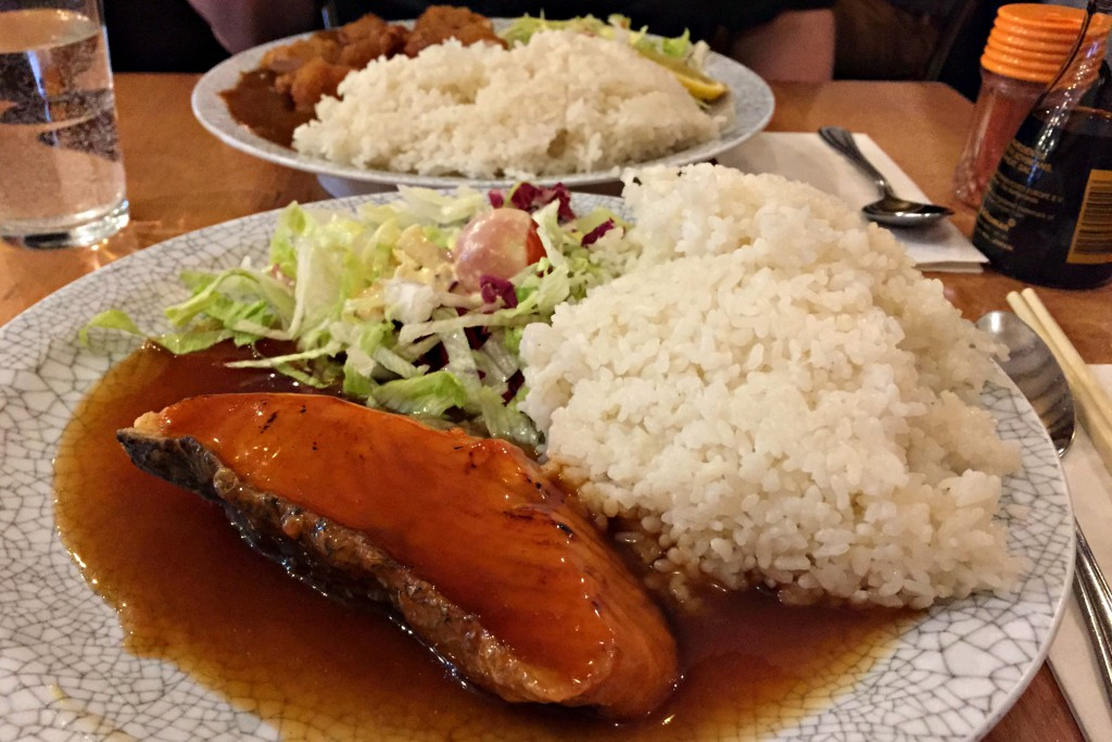 misato china town japanese restaurant salmon teriyaki with rice
