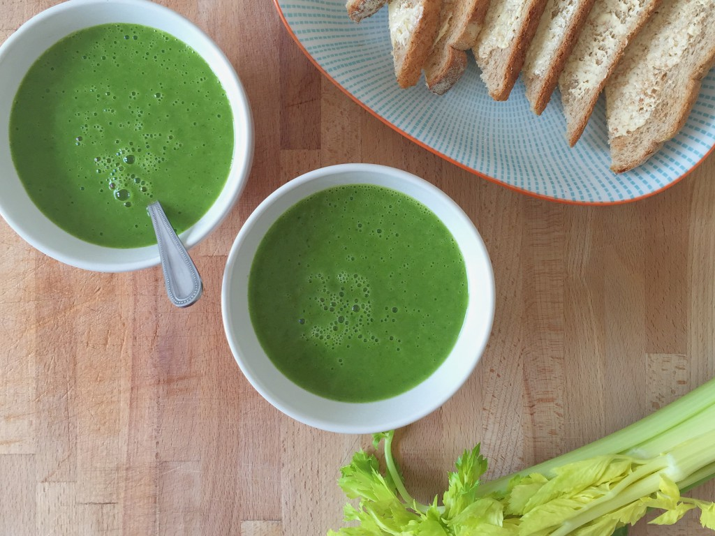 Kale and vegetable spring soup