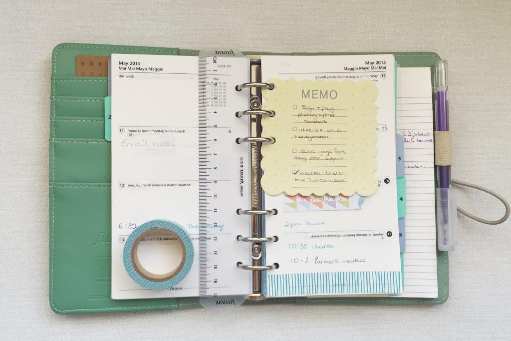 Filofax personal diary 2015 inserts
