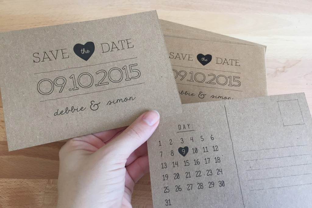 Save The Date Postcards DIY
