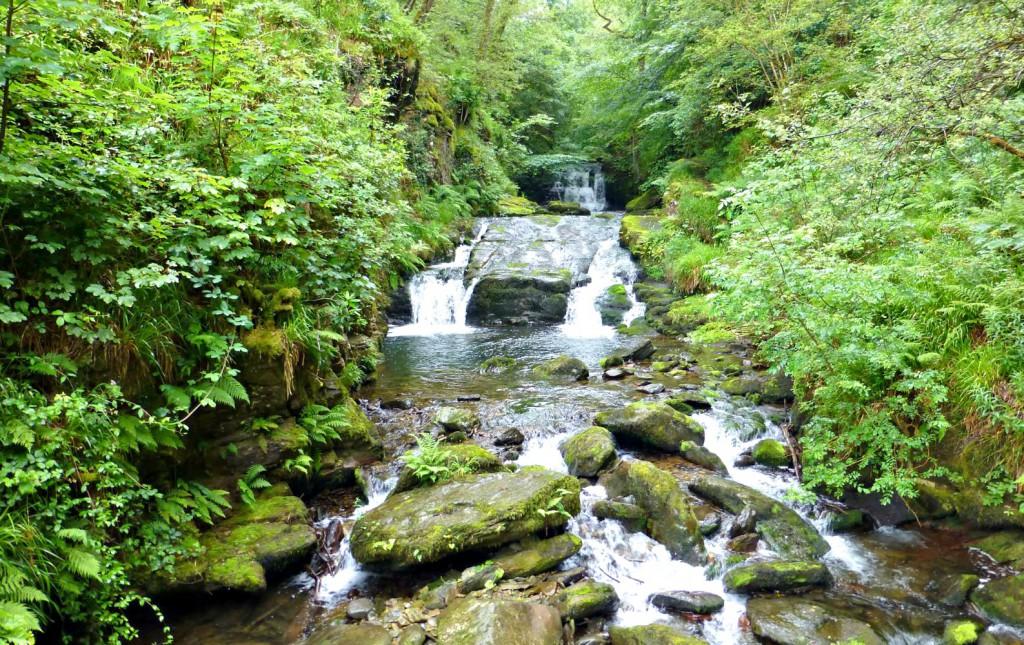 Watersmeet National Trust waterfall