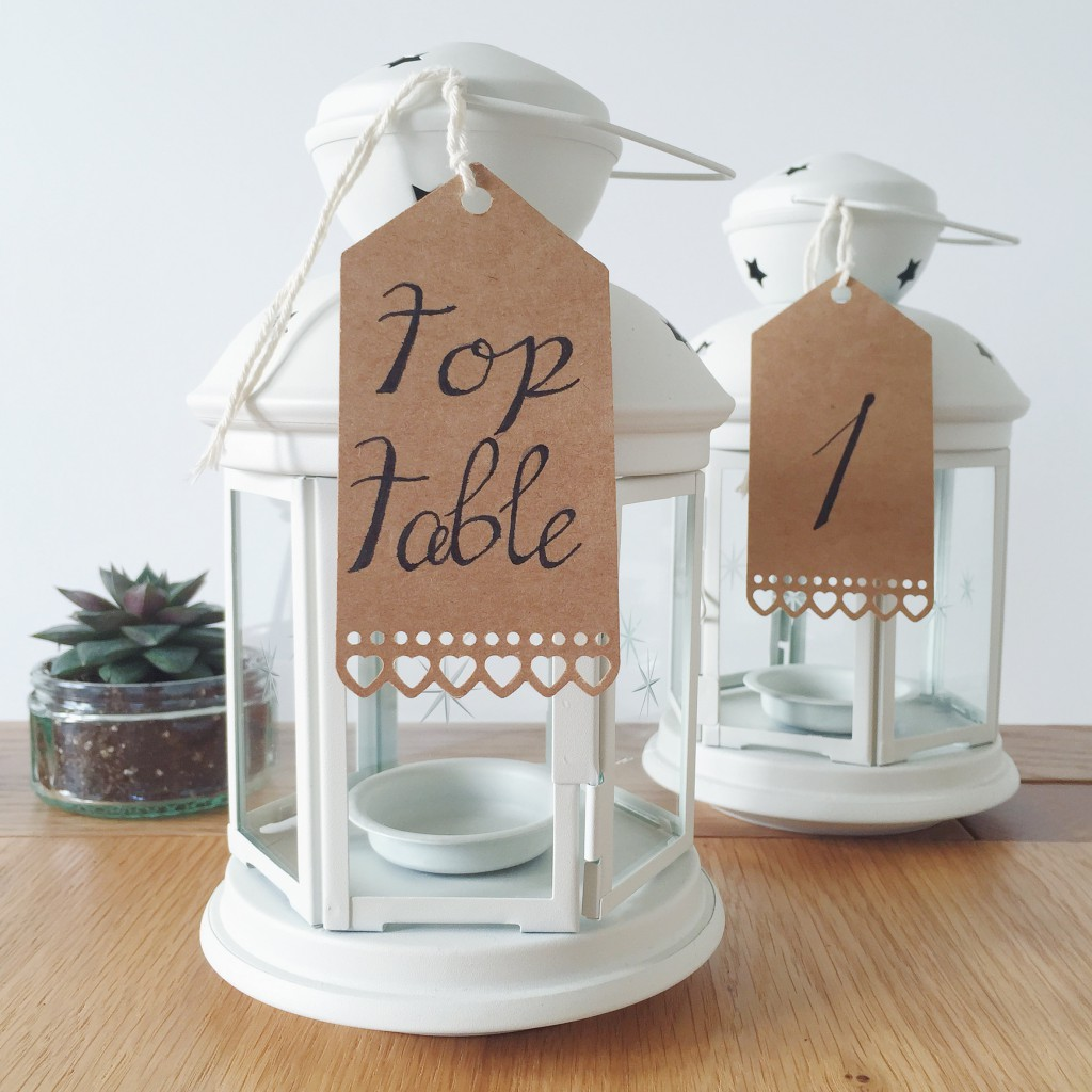top table wedding lantern