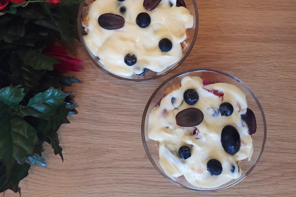 Easy trifle for Christmas