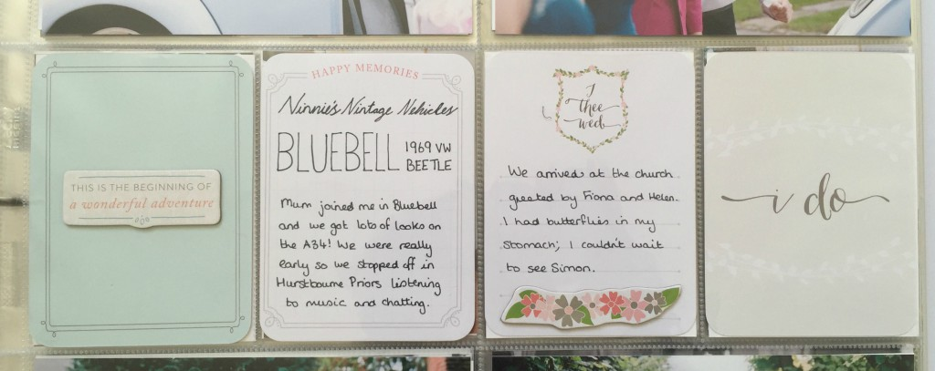 Project Life southern wedding album Bluebell Beetle