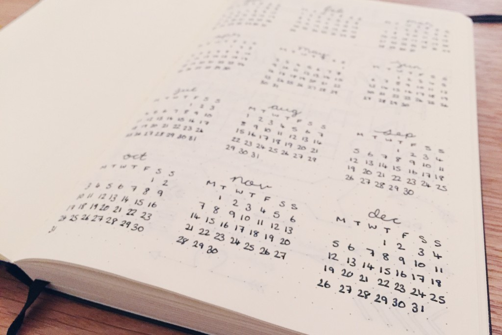 Yearly Calendar Bullet Journal : Bullet journal newbie hello deborah