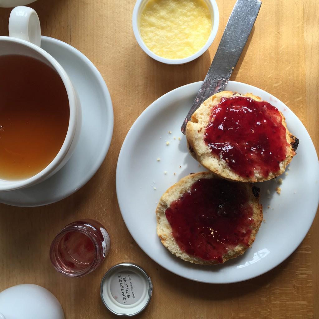 Cream tea at Ilam National Trust