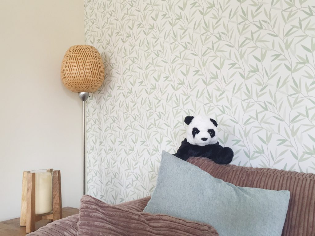 Laura Ashley Willow wallpaper in the living room