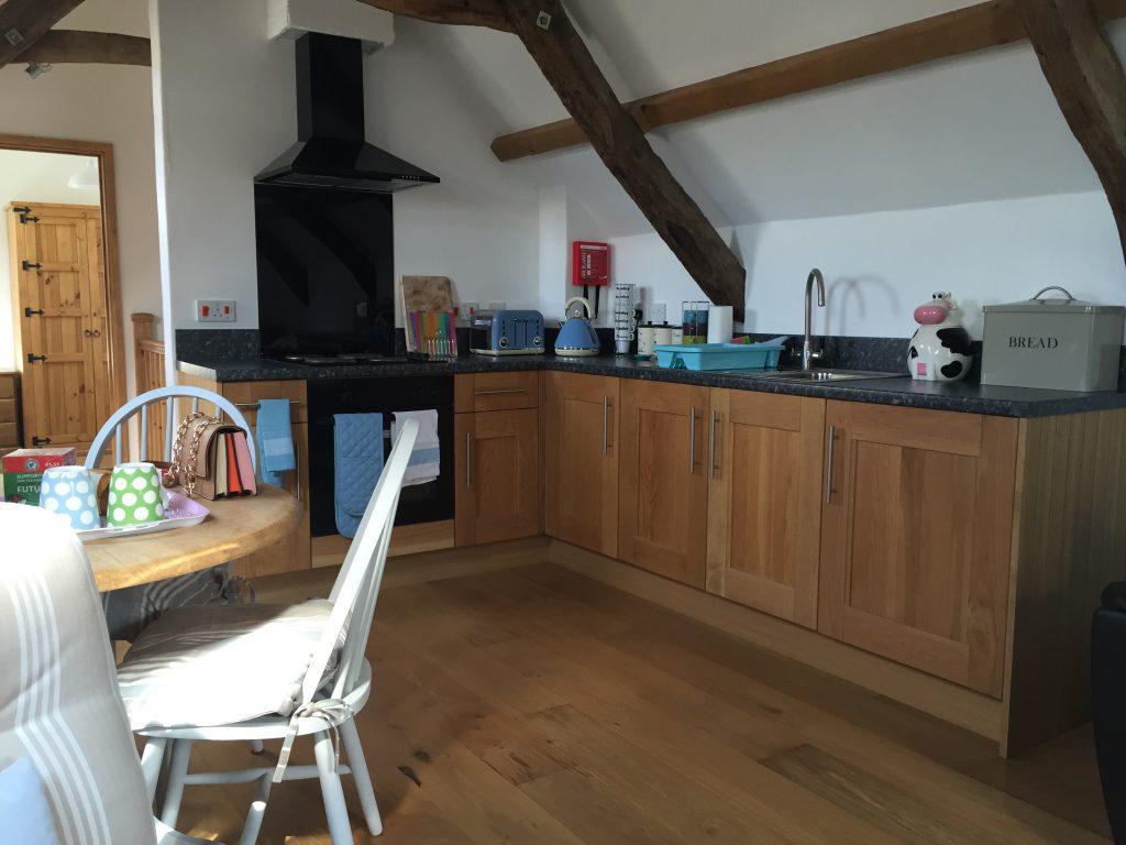 Flittermouse Cottage kitchen area