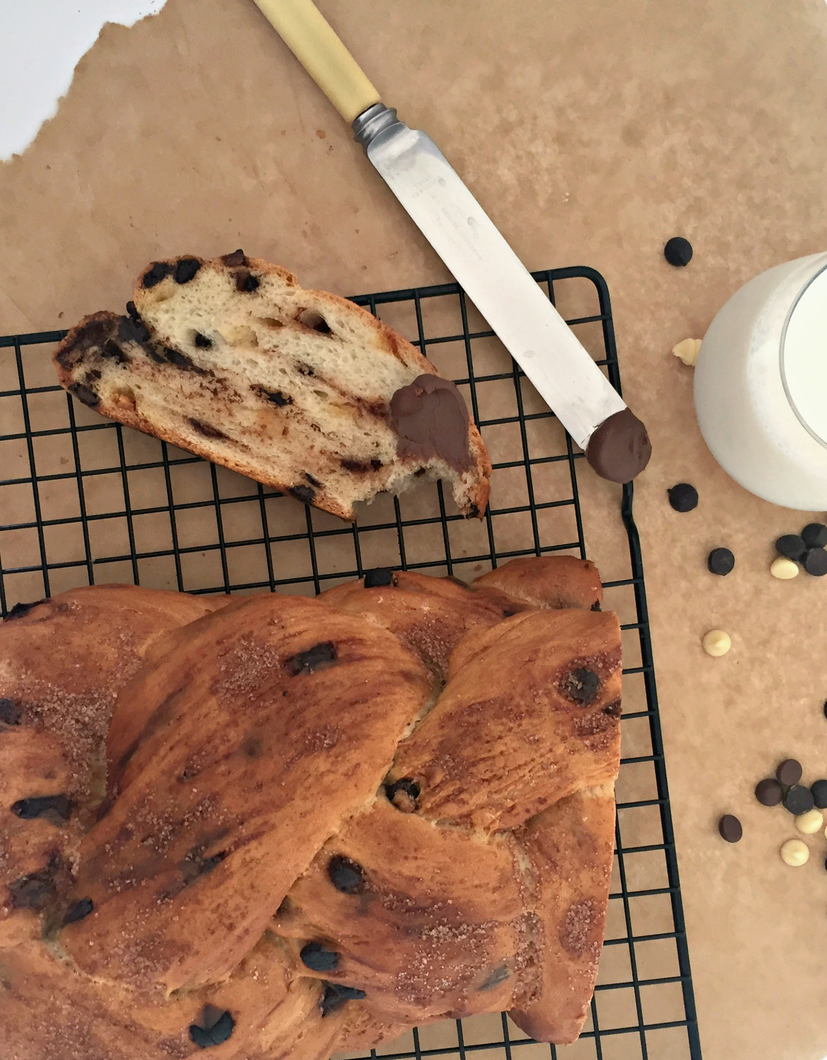 Chocolate chip cinnamon loaf bread