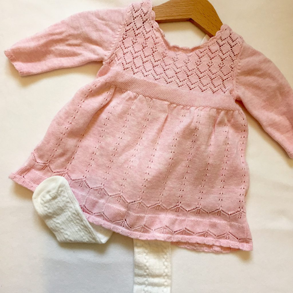 Pink knitted dress from Next