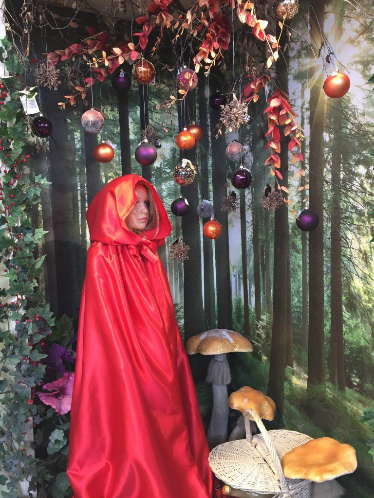 Roseboure Garden Centre Christmas displays little red riding hood