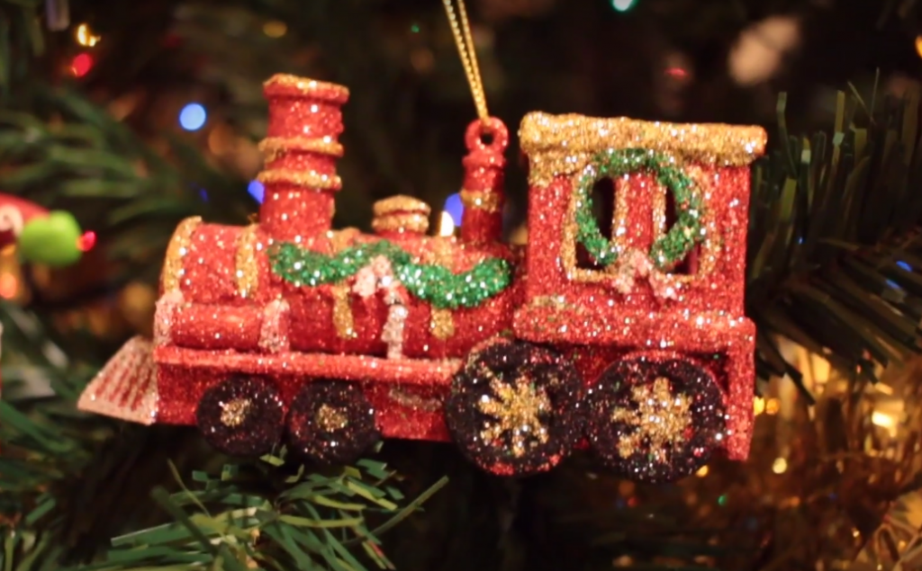 train christmas decoration
