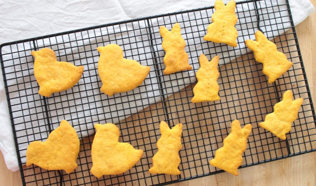 Sweet potato biscuits baby led weaning for easter