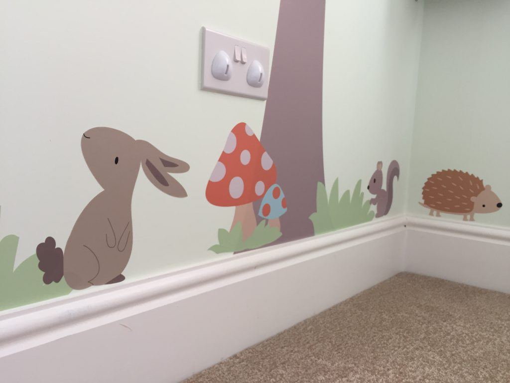 Eleanor's Nursery forest woodland wall stickers