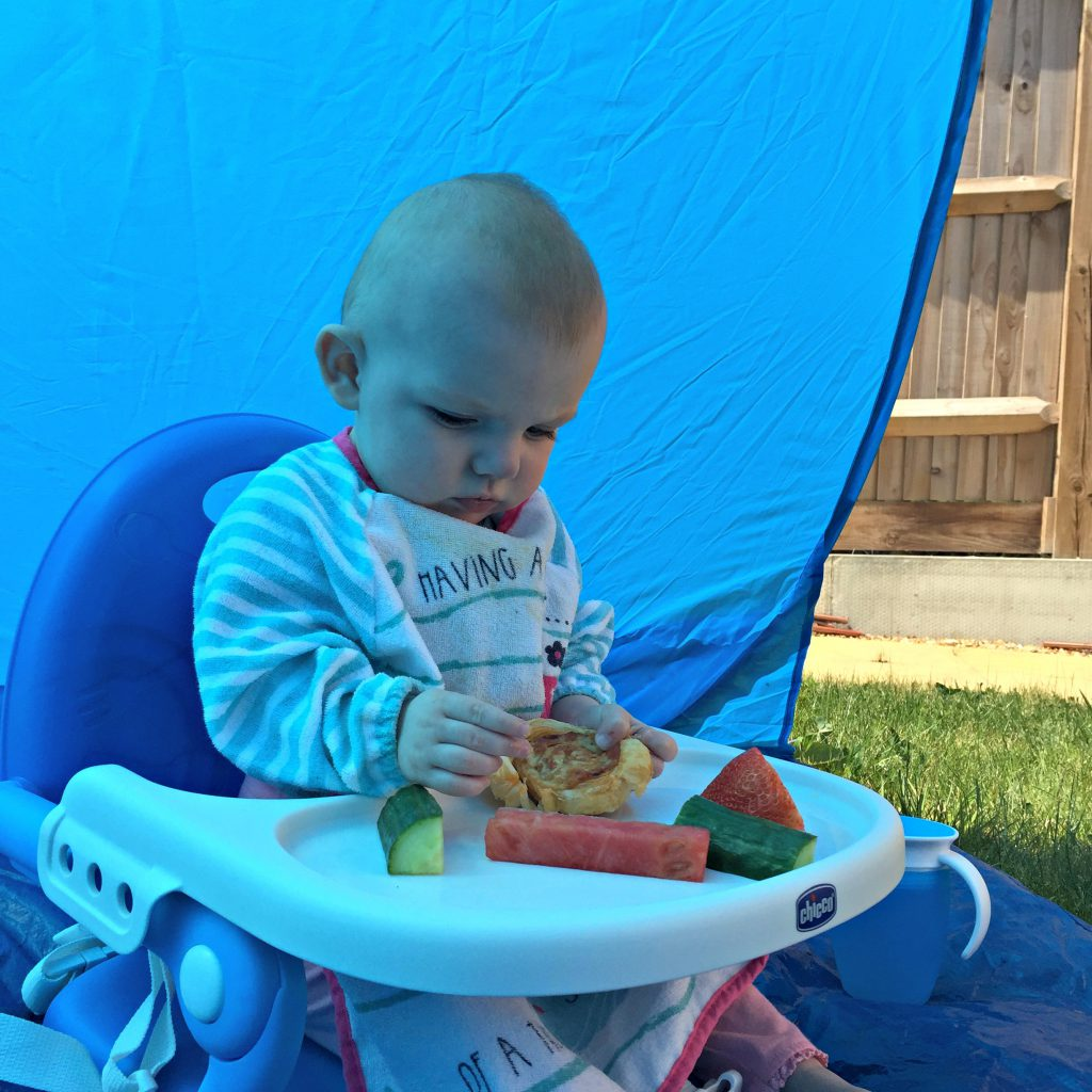 Baby led weaning essential products including the Chicco Pocket Snack portable high chair