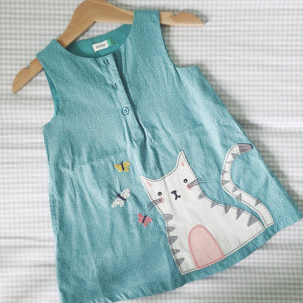 John Lewis cat dress for baby