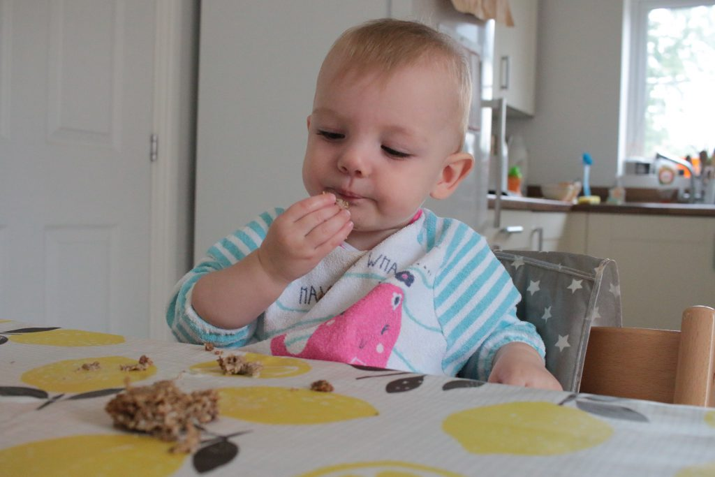 Weatabix for breakfast. We do baby led weaning so my daughter feeds herself bits of soggy weatabix.