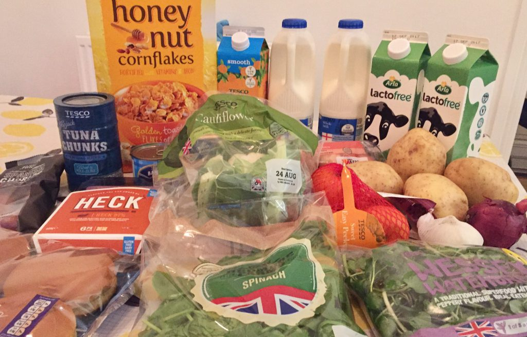 Tesco food haul for our dairy free meal plan monday