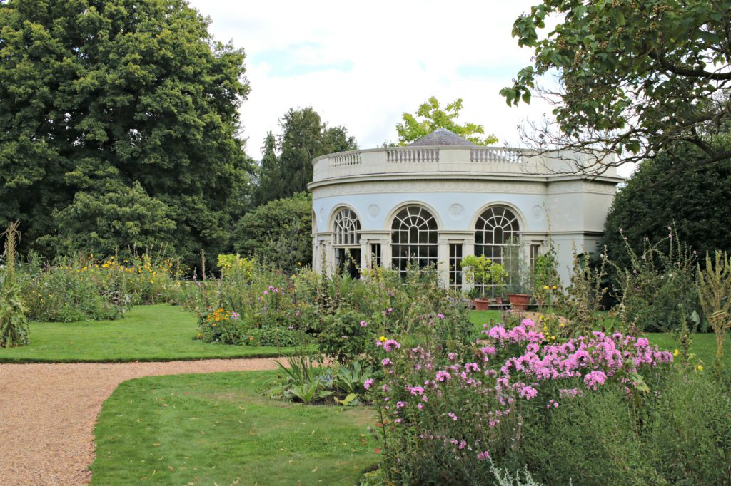 Osterley Park garden house with plants in