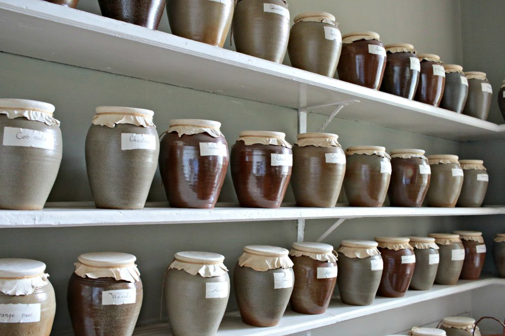 Osterley Park jars in the kitchen