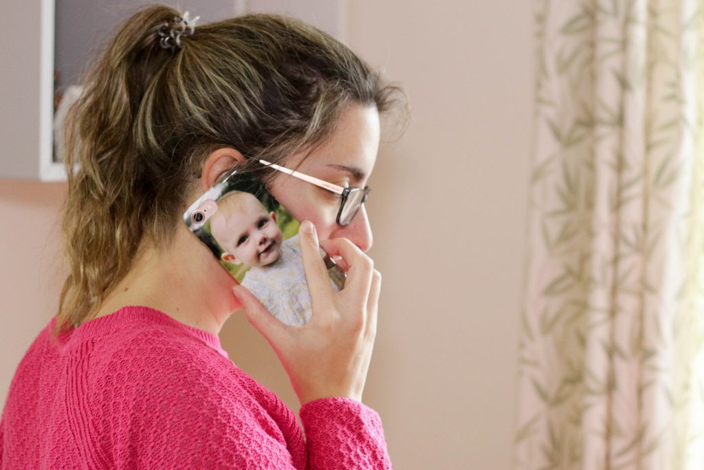 Lifecake photos printed as a phone case