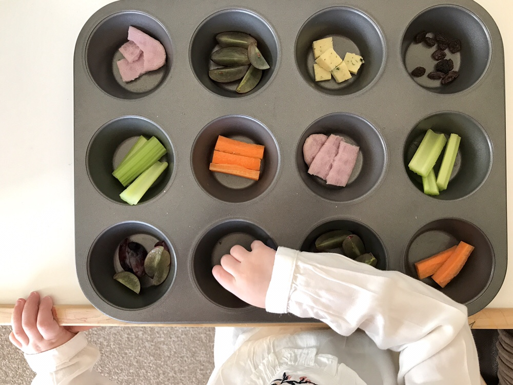Grazing tray for toddlers