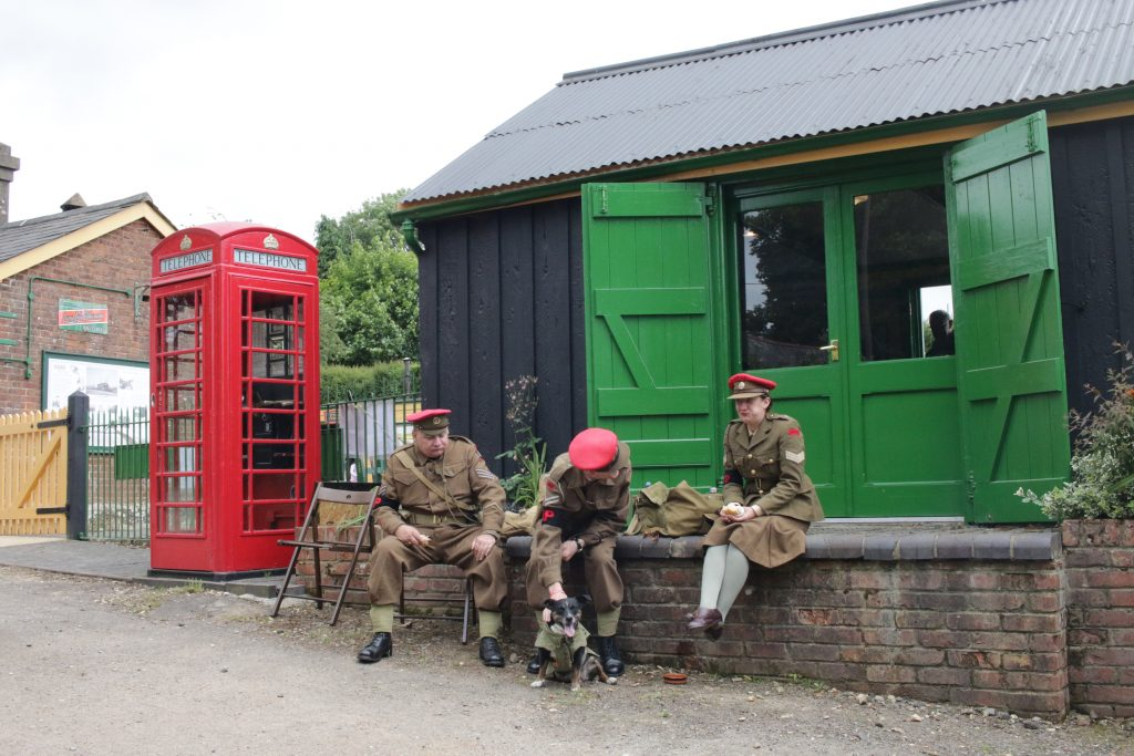 War on the Line at The Watercress Line day out in Hampshire