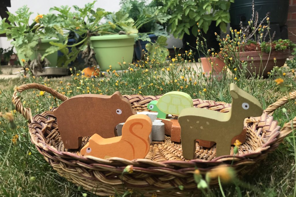 Wooden toys animals