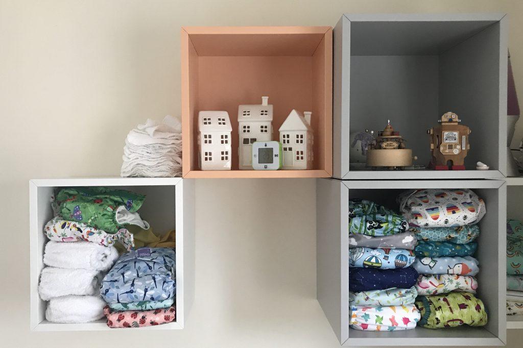 cloth nappy stash